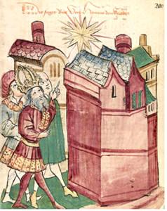 Enrico III indica la supernova del 1054