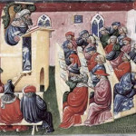 Lezione in una università europea , 1350 circa