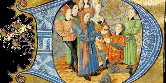 L'omaggio di un vassallo a Carlo d'Orléans