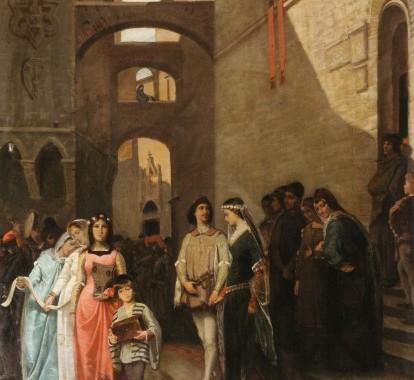 le_nozze_di_Buondelmonte_olio su tela di Saverio Altamura, 1858-1860 ca.