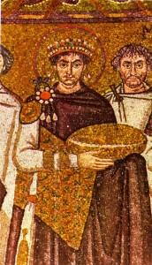 Giustiniano, mosaico di San Vitale, Ravenna