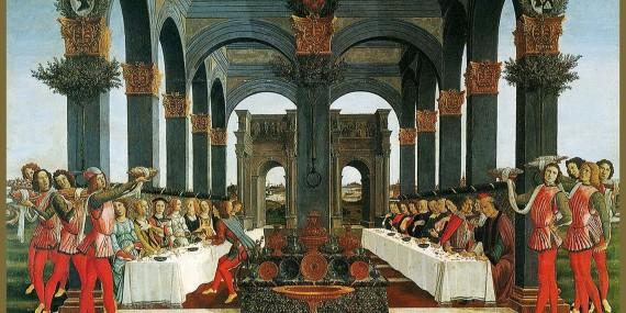 Botticelli-Novella di Nastagio degli Onesti (IV) 1483-Museo Pucci Firenze