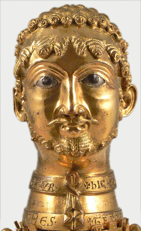 Busto in bronzo di Federico Barbarossa datato 1173