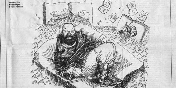Eco in un disegno di Tullio Pericoli