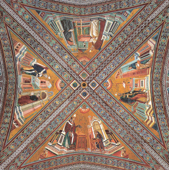 Giotto, Volta_dei_dottori_della_chiesa