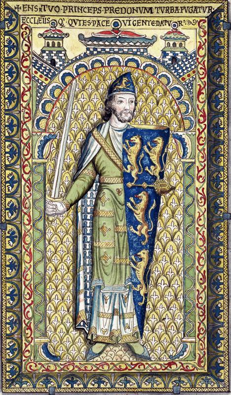 Goffredo Il Bello in una raffigurazione conservata alla Bibliothèque nationale de France