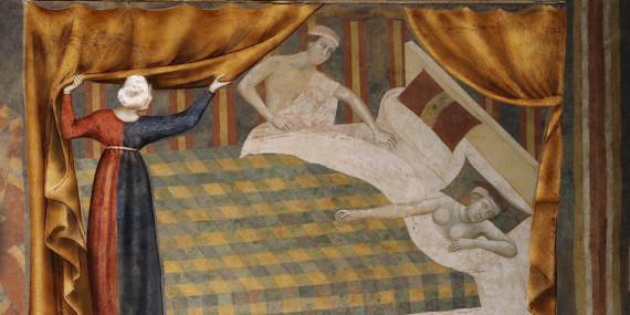 L'alcova, particolare opera Memmo di Filippuccio