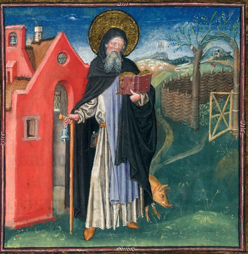 Sant'Antonio abate padri del deserto maiale