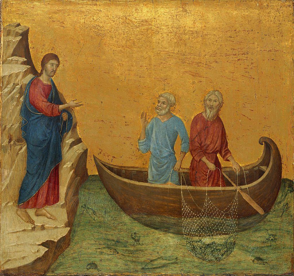 Duccio di Buoninsegna, Vocazione di Pietro e Andrea