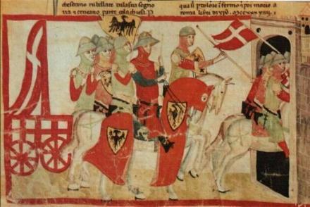 Federico II entra in Cremona col Carroccio