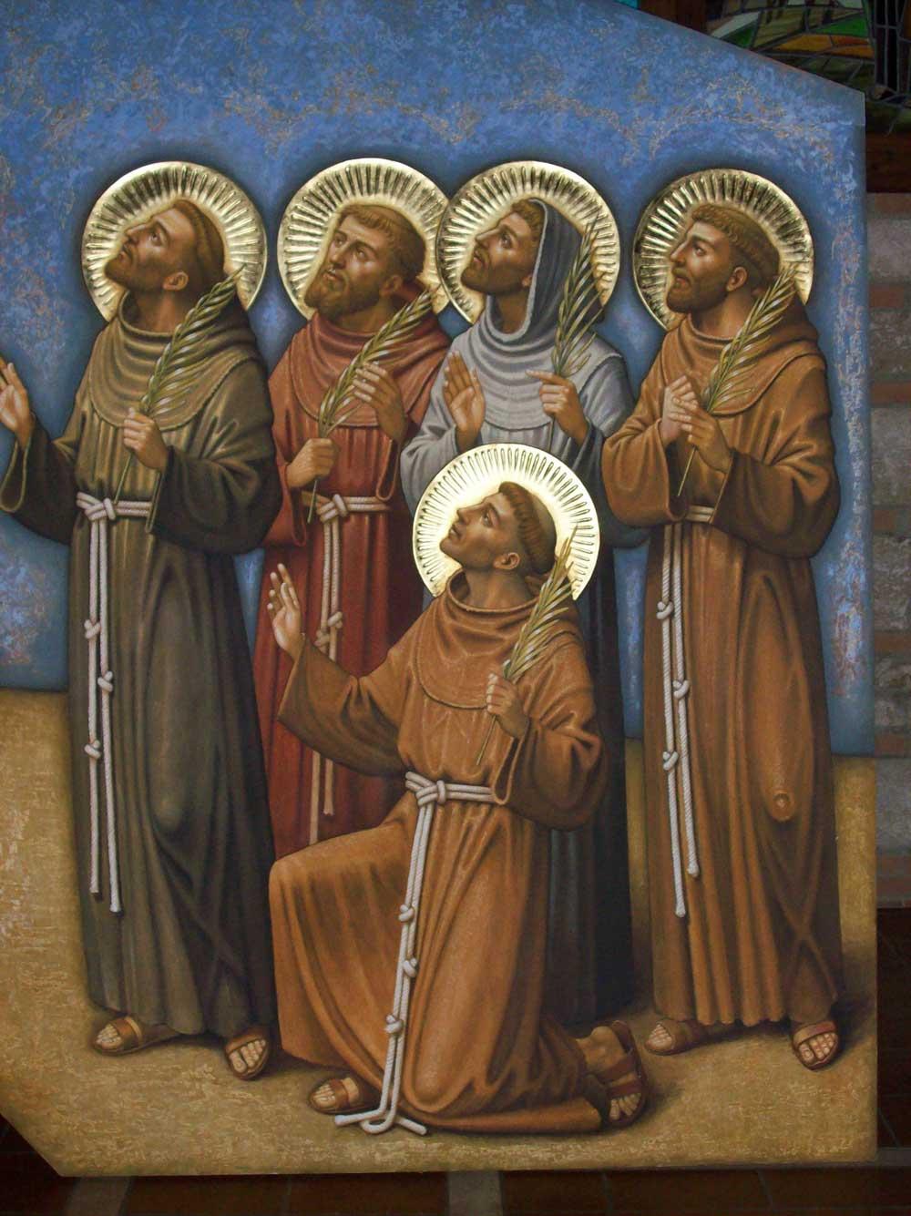 I protomartiri francescani, dipinto di Piero Casentini per la chiesa del monastero Ss. Annunziata delle Clarisse di Terni.