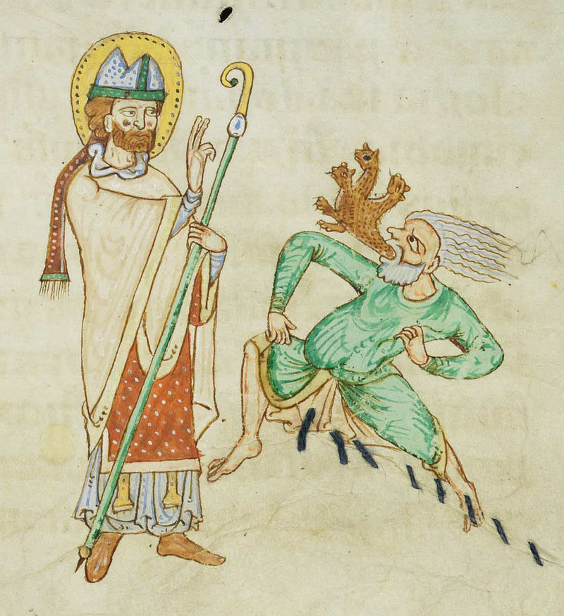 Miniatura su Leone IX tratta dal Passionary of Weissenau, Codex Bodmer.
