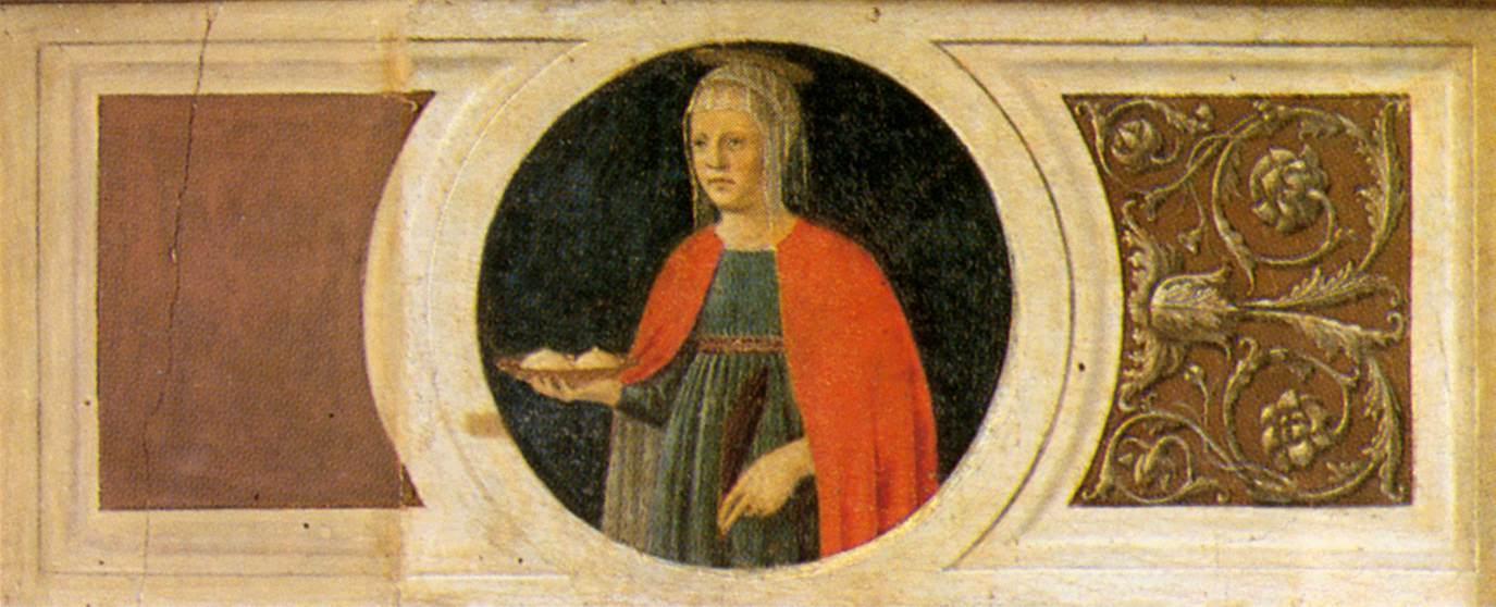 Piero della Francesca, Sant'Agata, Polittico di Sant'Antonio, 1460,  particolare - Galleria Nazionale dell'Umbria