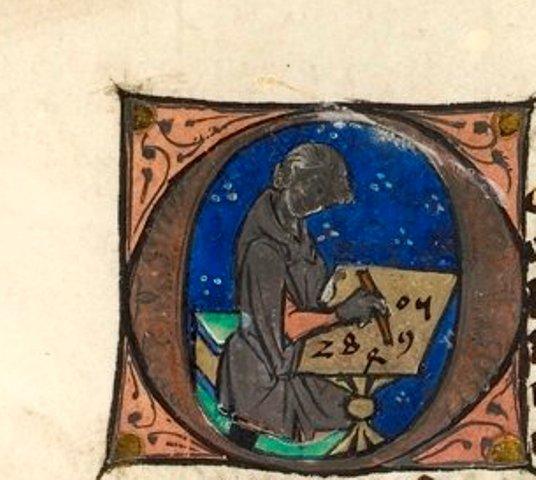 """miniatura dal """"Computus correctorius"""" di Roberto Grossatesta, seconda metà del XIII secolo – Londra, British Library"""