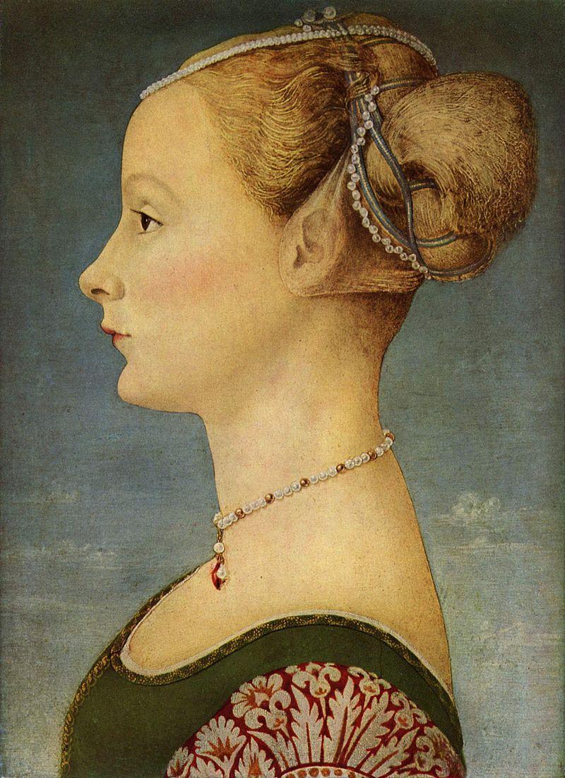 Antonio del Pollaiolo, Ragazza di profilo, Museo Poldi Pezzoli, Milano.