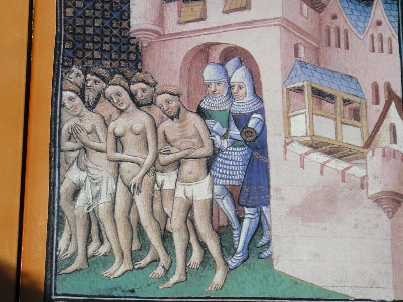 Catari esplusi da Carcassonne (bottega del Maestro di Boucicaut).
