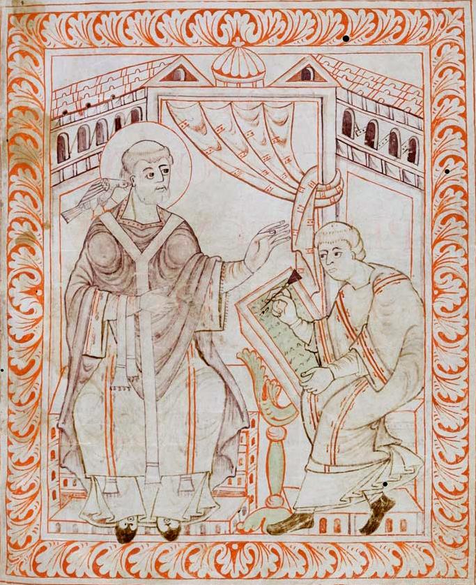 Gregorio Magno, antifonario di Hartker del monastero di San Gallo.