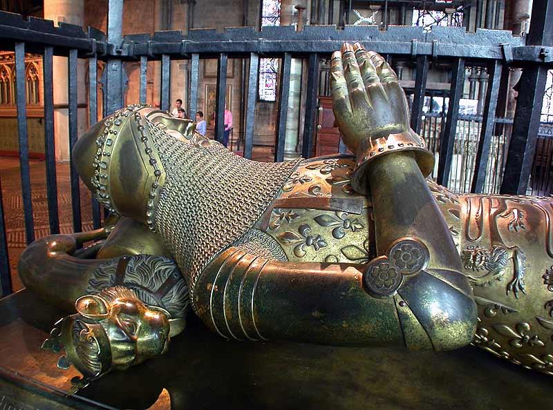 La tomba del Principe Nero nella Cattedrale di Canterbury.