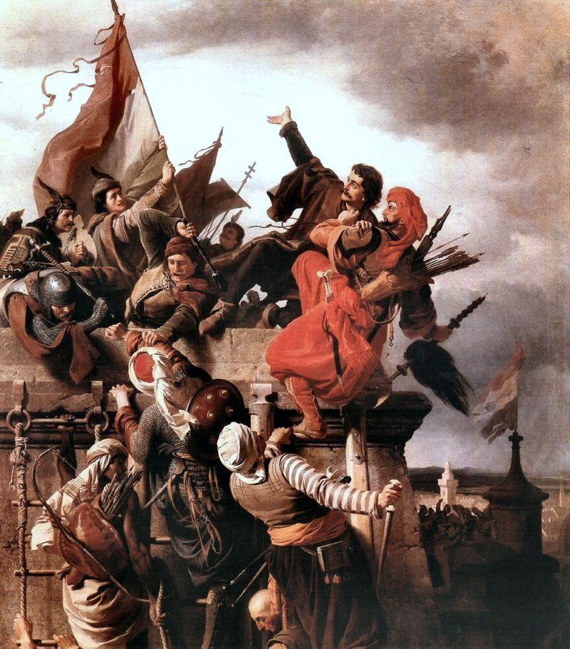 L'eroismo di Titus Dugovi?, dipinto ungherese del XIX secolo.