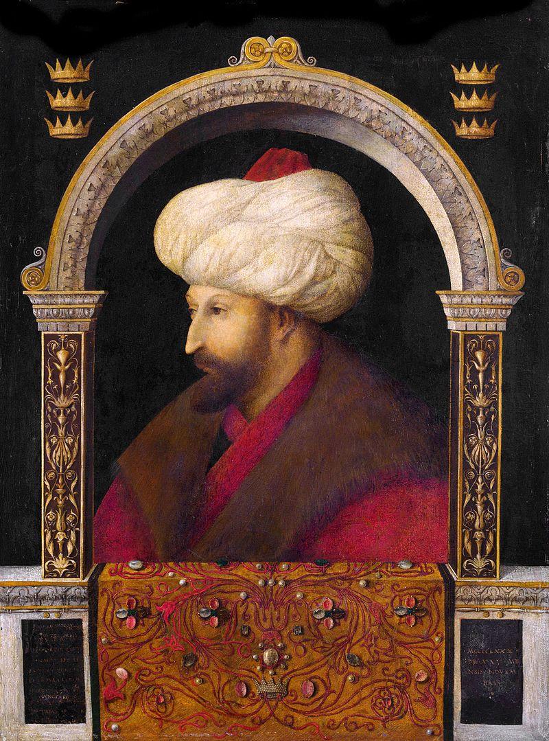 Maometto II , ritratto di Gentile Bellini.