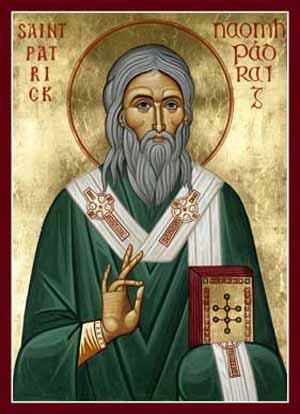San Patrizio in una icona bizantina.