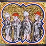 Miniatura del XV secolo da un manoscritto delle Cronache di Jean Froissart che illustra lo Scisma d'Occidente.