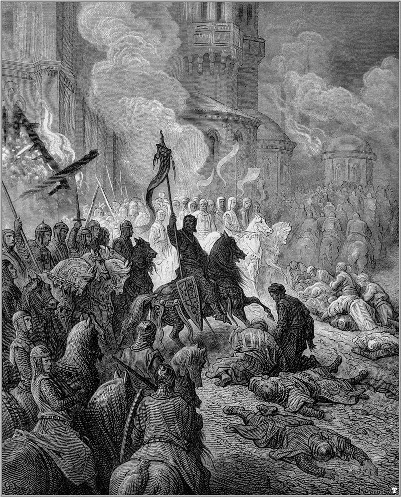 Gustave Doré, I crociati conquistano Costantinopoli