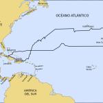 Il percorso del viaggio di Cristoforo Colombo nel 1492