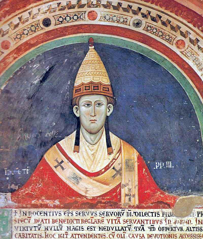 Innocenzo III, ritratto nel Sacro Speco di Subiaco