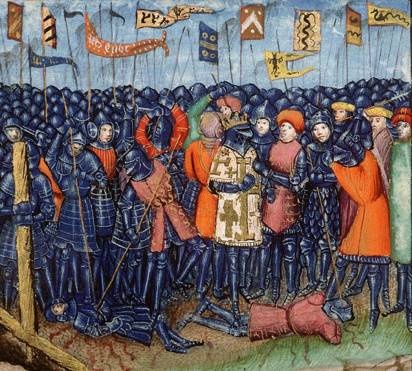 La battaglia di Hattin, da un manoscritto del XV secolo