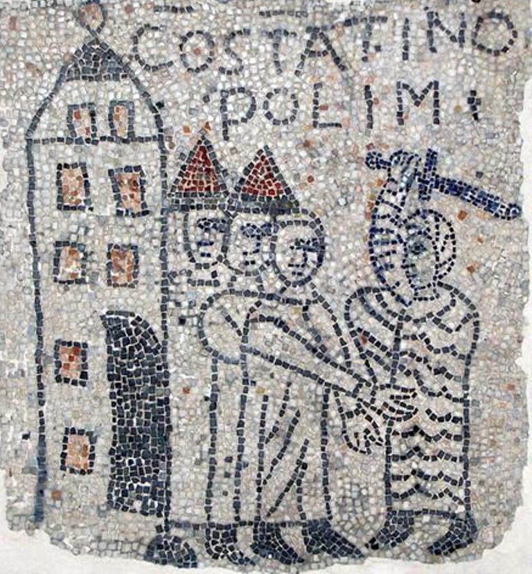 La conquista di Costantinopoli, mosaico del 1216