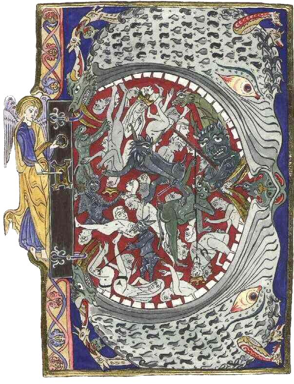 Miniatura del XII secolo porta Inferno copia
