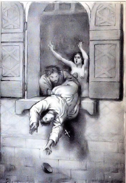 Morte di Papa Giovanni XII, Franco Mistrali (1861)