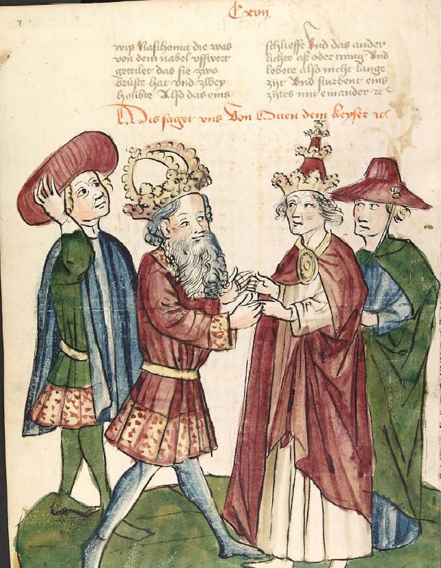 Ottone I incontra Giovanni XII, Laboratorio di Diebold Lauber, 1450