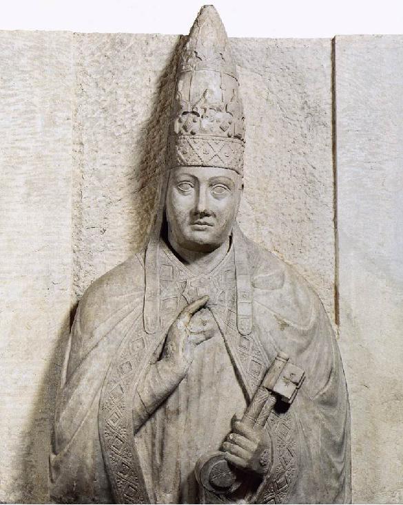 Statua di Bonifacio VIII, opera di Arnolfo di Cambio (1298 ca.). Museo dell'Opera del Duomo, Firenze