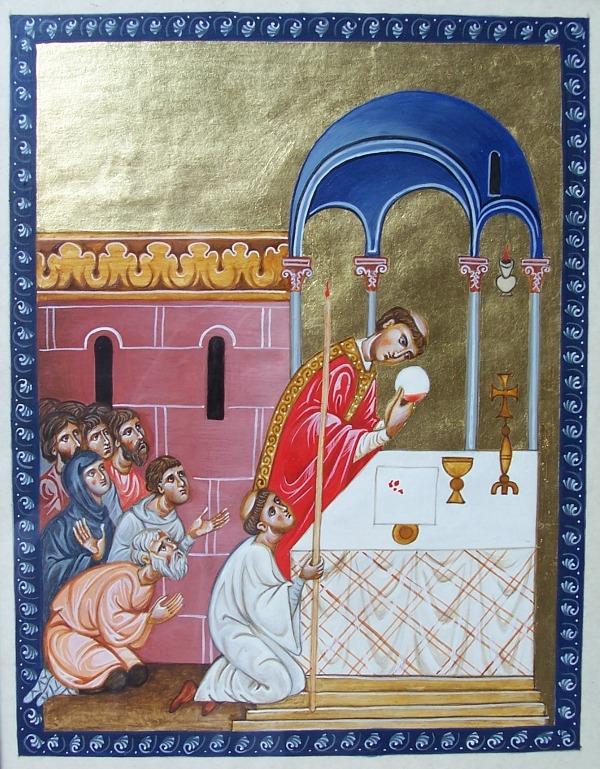 Il miracolo di Bolsena in una miniatura medievale