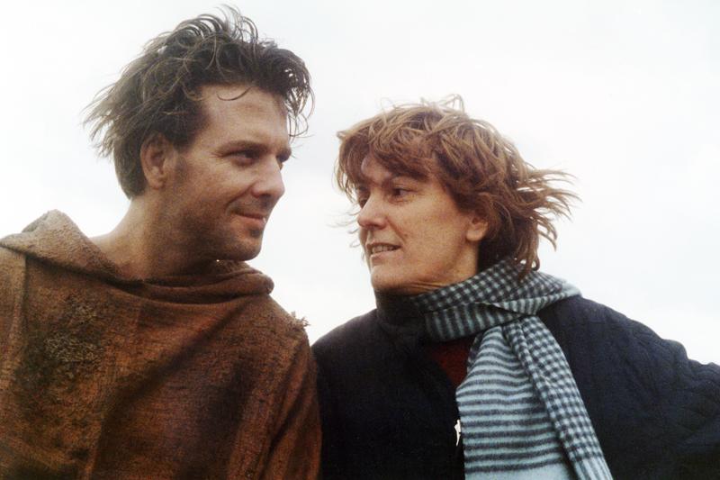 Liliana Cavani e Mickey Rourke. Foto Paul Ronald - Francesco, 1989 (Fonte: www.lilianacavani.it)