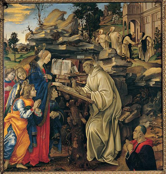 FL_Apparizione della vergine a SB_1482-1486 circa e conservato nella Badia Fiorentina a Firenze