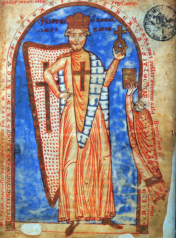 Federico Barbarossa, miniatura da un manoscritto del 1188, Biblioteca Vaticana