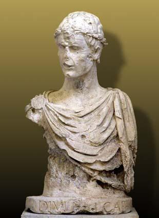 Il busto di Federico II conservato a Barletta