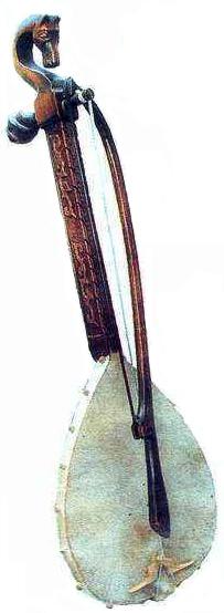 La gusle, strumento della musica popolare serba