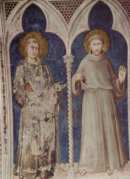 Sant'Antonio e San Francesco di Simone Martini (1322-26), basilica inferiore di San Francesco, Assisi