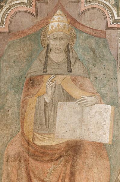CelestinoV in un'opera di Niccolò  Di Tommaso (ca.1343-1405)