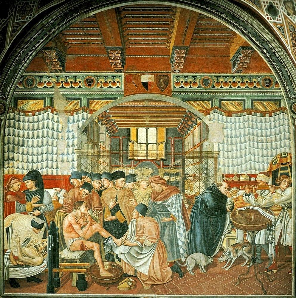 Cura degli ammalati Pellegrinaio di Santa Maria della Scala 1440-47_DdiBartolo
