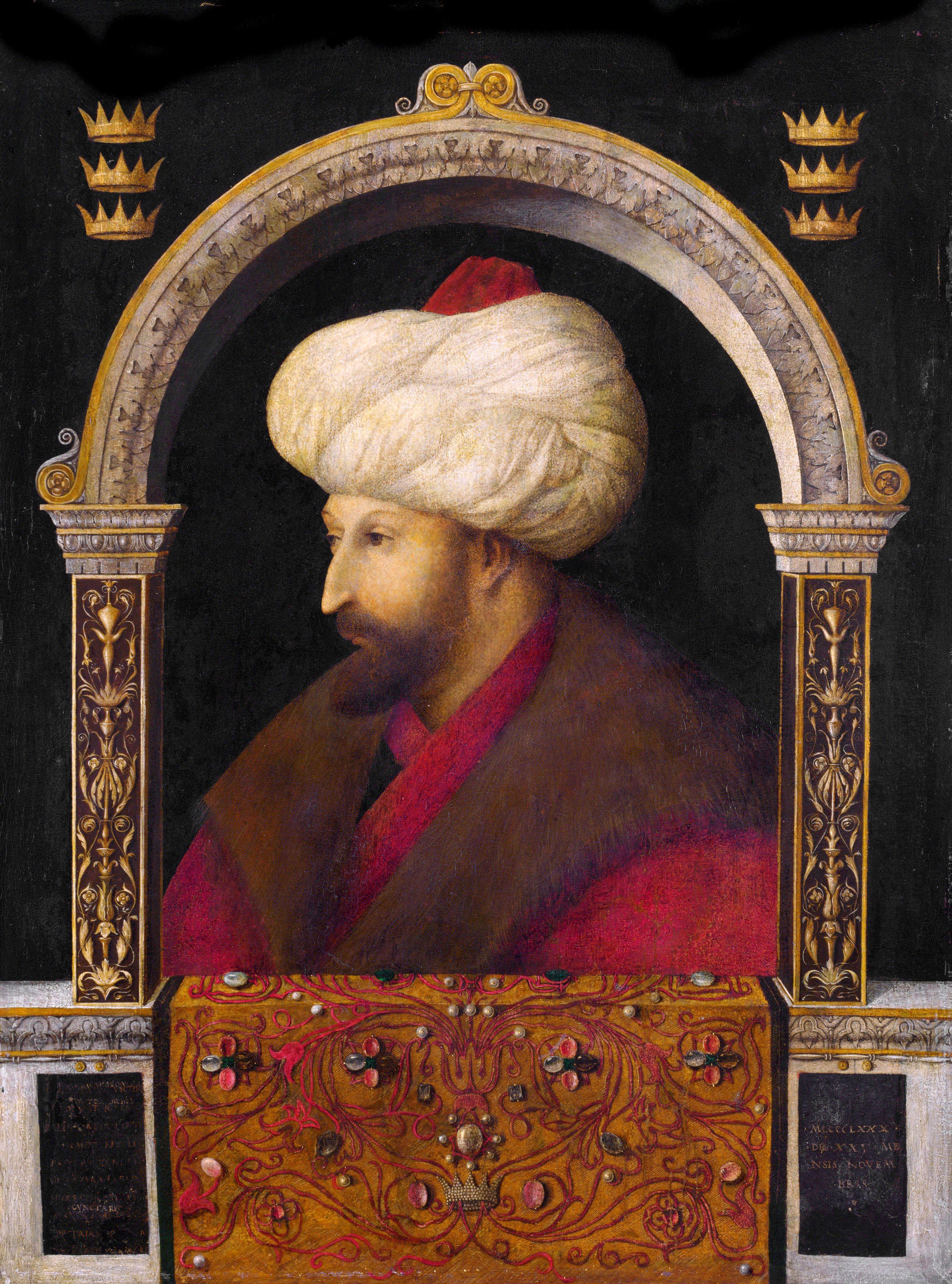 Il famoso ritratto di Maometto II di Gentile Bellini conservato nel Victoria and Albert Museum di Londra