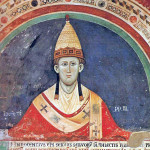 Innocenzo III, ritratto in un affresco del Sacro Speco