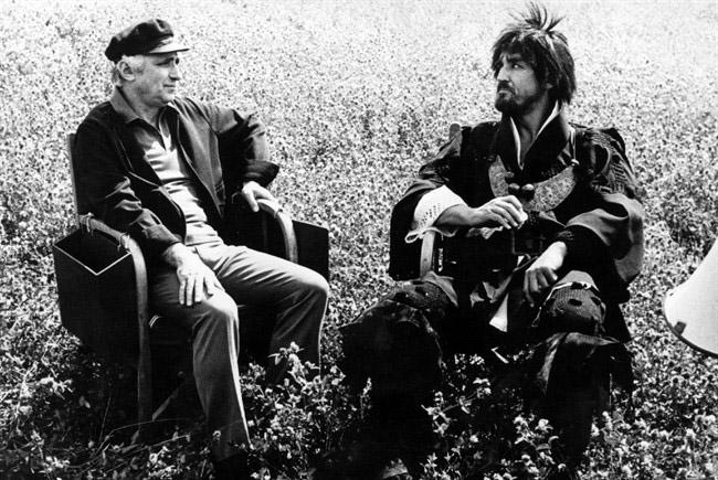 Mario Monicelli con Vittorio Gassman durante le riprese del film