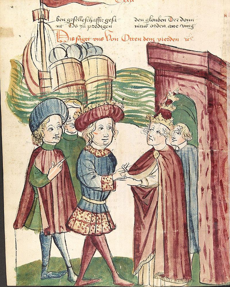 Ottone IV incontra papa Innocenzo III