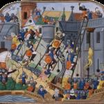 Philippe de Mazerolles, L'assedio di Costantinopoli, dalla Chronique de Charles VII di Jean Chartier, 1470 ca.