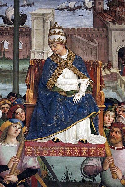 Pinturicchio - Pio II giunge ad Ancona per dare inizio alla crociata, 1502-1507